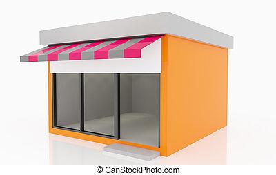 Modern Empty Shop