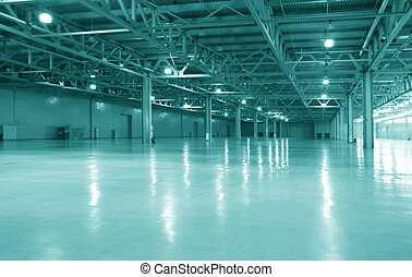 warehouse - modern empty warehouse