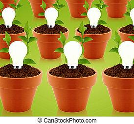 modern energy saving - modern energy-saving concept, bright...
