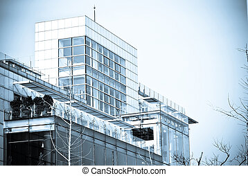 Modern Entreprise Glass Building Exterior