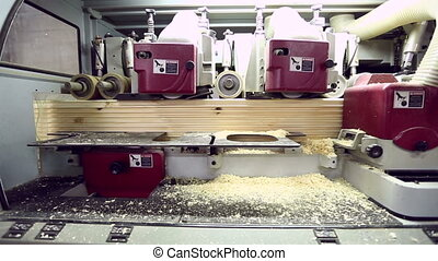 Modern equipment for processing of shaped timber