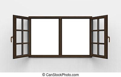 modern, erdő, ablak