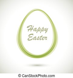 Modern Ester card with egg shaped frame vector template.