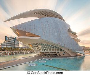 modern, europäische architektur, valencia