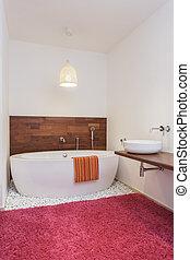 modern, fürdőkád