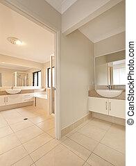 modern, fürdőszoba