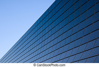 Modern facade with black glass