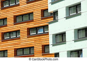 Modern Facades of an office building in Sankt Poelten