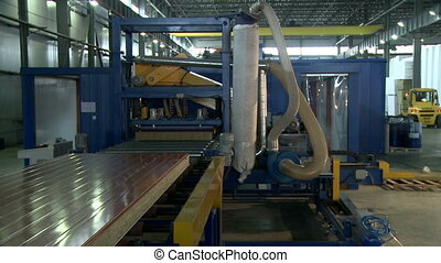 Modern facility for production of sandwich panels
