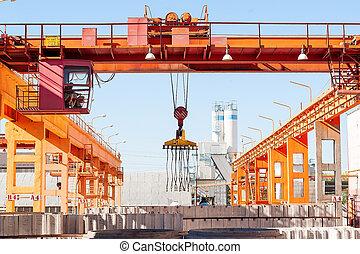 Modern factory formwork construction site