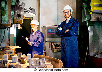 Modern factory personnel - A portrait of a modern factory...