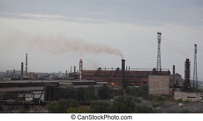 Modern factory with chimneys. - Modern factory with chimneys...