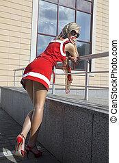 fashion blonde woman