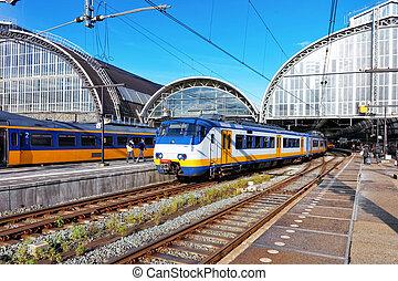 Modern Fast Passenger Train   at the station. Paris. France