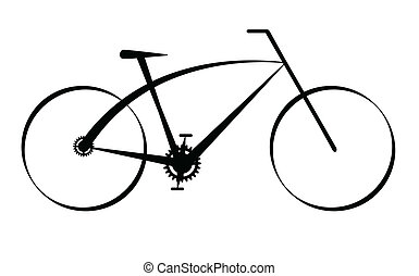 modern, fekete, bicikli