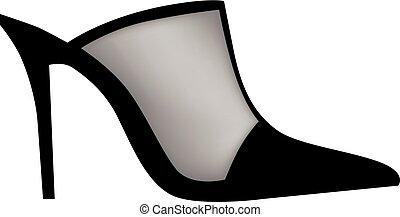 Modern female shoes with high heels. Vector illustration.