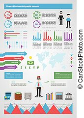 Modern Finance infographic, vector illustrations