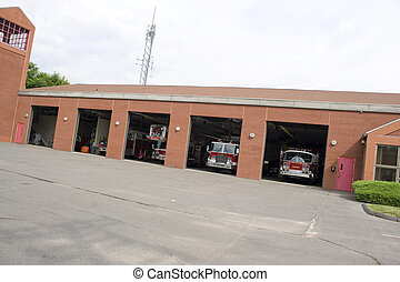 This is a huge fire house with lots of bays.