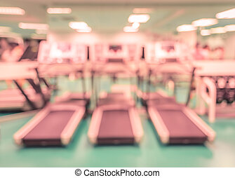 Modern fitness center abstract blur background