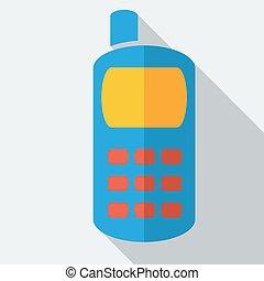 Modern flat design concept icon smart phone. Vector illustration