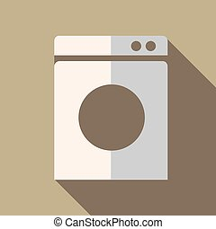 Modern flat design concept icon washing machine. Vector...