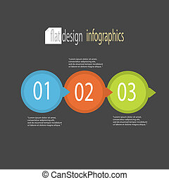 Modern flat design infographics