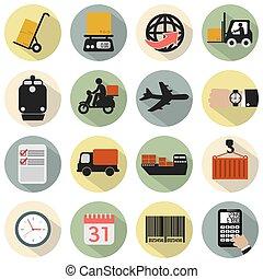 Modern Flat Design Logistics Icon.