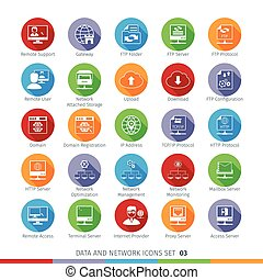 Modern Flat Icons Set 03 - Modern Flat Data and Networks...
