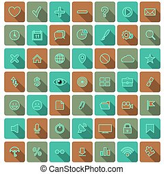 Modern flat icons vector collection