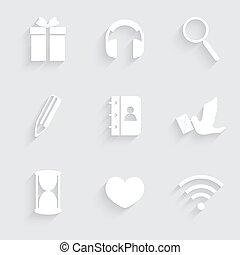 Modern flat icons vector