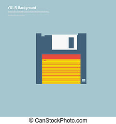 Modern flat icons vector illustration collection