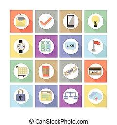 Modern flat web design icons, Set 1