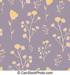 Modern floral pattern design