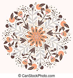 Modern floral pattern. Floral vector print repeating pattern...