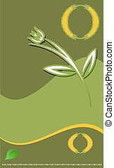 Modern flower template for Your design.