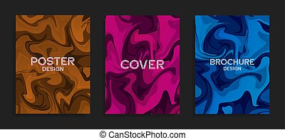 Modern flyer templates. A mixture of liquid colors. Abstract...