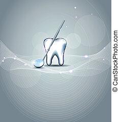 modern, fogászati, tervezés