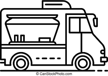 Modern food truck icon, outline style