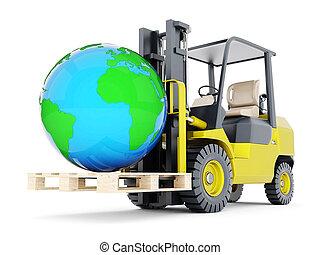 Modern forklift truck