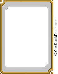 modern frame, board
