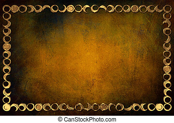 Modern Frame on Background With Texture