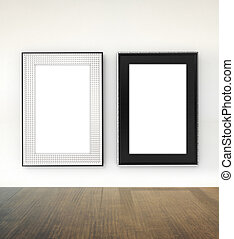 modern frame with clipping path