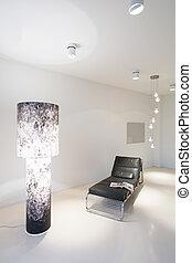 Modern furniture in white interior