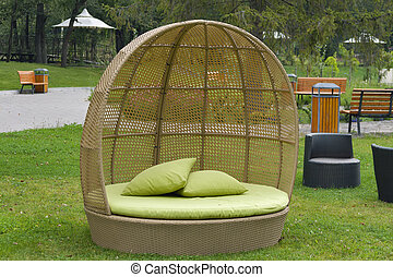 Modern furniture rattan wicker sofa outdoor - Half round ...