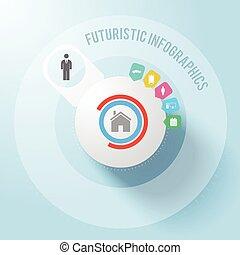Modern Futuristic Business Infographics