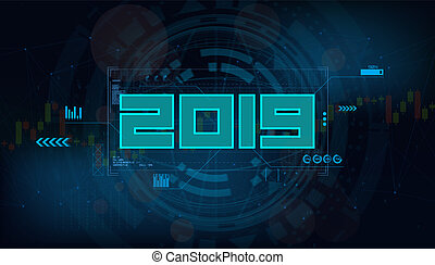 Modern futuristic template for 2019