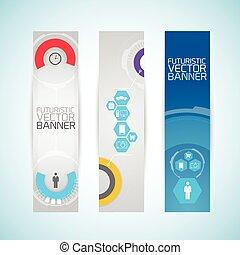 Modern Futuristic Vertical Banners
