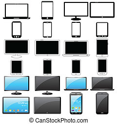 Modern Gadget - easy to edit vector illustration of modern ...