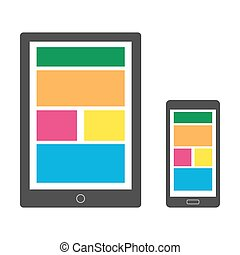 Modern gadget illustration