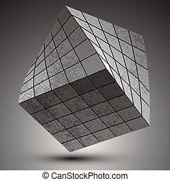 Modern galvanized 3d object - Modern galvanized stylish 3d ...